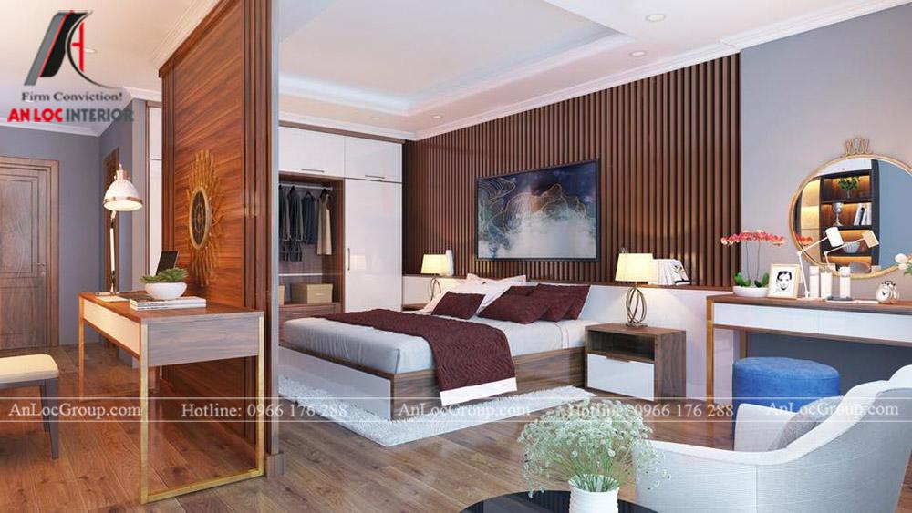 thiết kế nội thất nhà phố đẹp - phòng ngủ 4