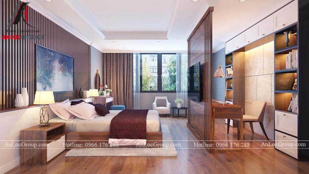 thiết kế nội thất nhà phố đẹp - phòng ngủ 5