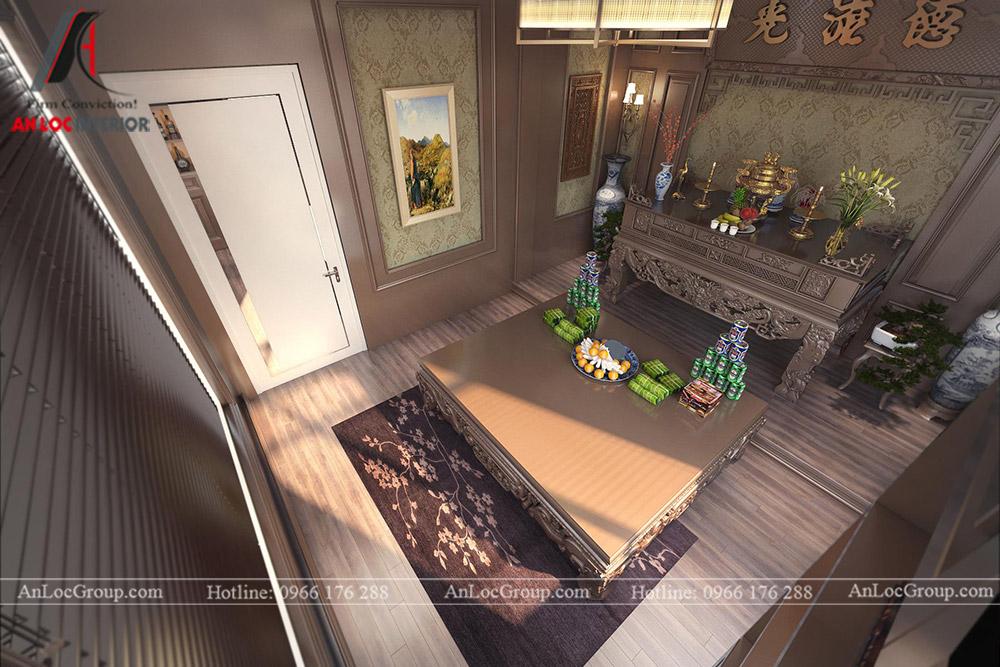 thiết kế nội thất nhà phố đẹp - phòng thờ 2