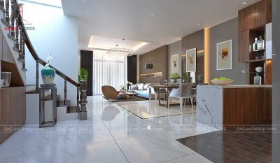 Thiết kế nội thất nhà phố tại Hải Phòng - Phòng khách 1