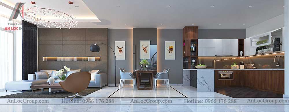 Thiết kế nội thất nhà phố tại Hải Phòng - Phòng khách 2