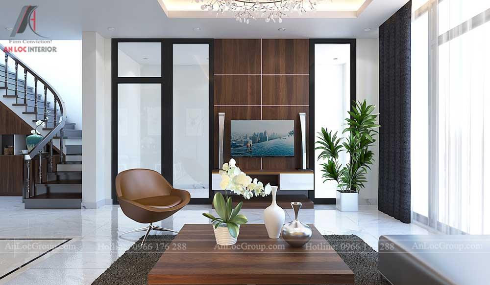 Thiết kế nội thất nhà phố tại Hải Phòng - Phòng khách 3