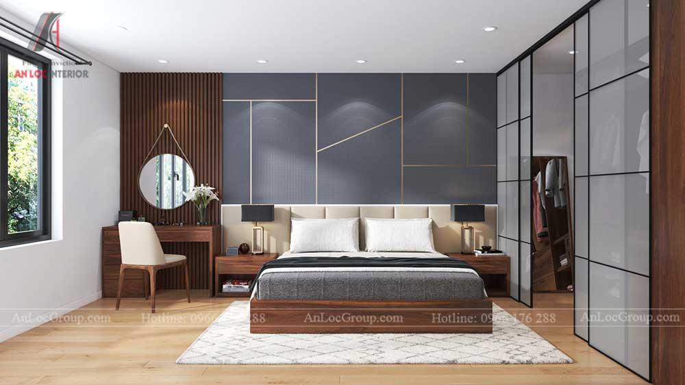 Thiết kế nội thất nhà phố tại Hải Phòng - Phòng ngủ 1