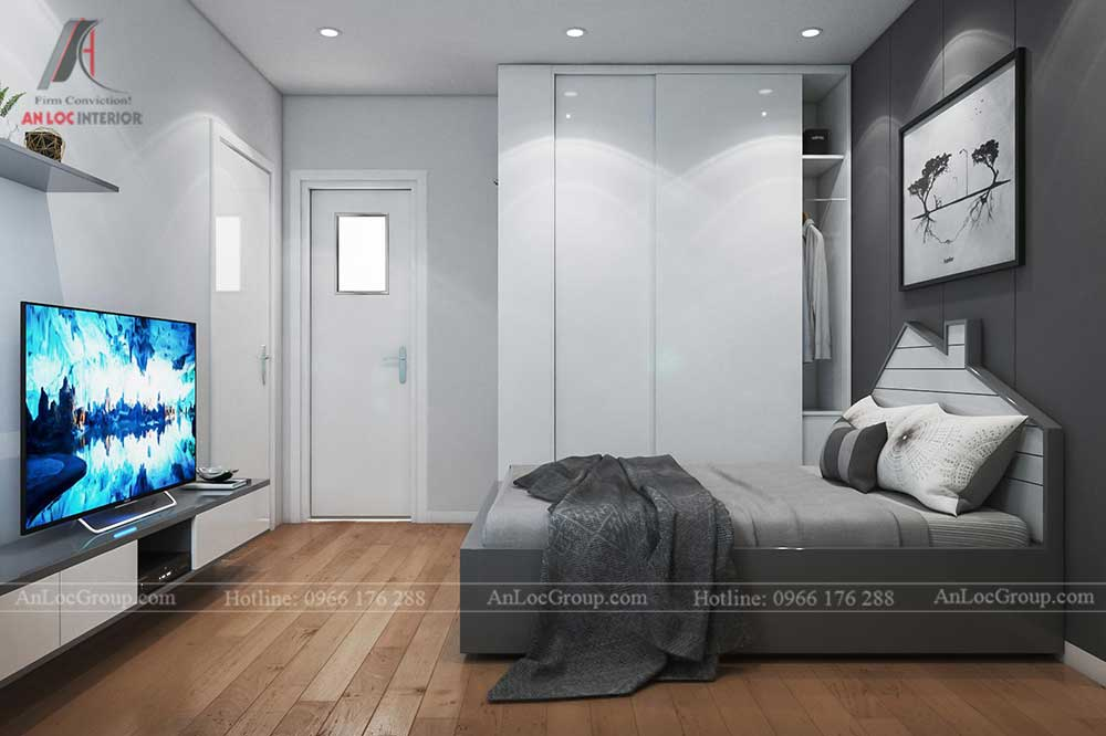 Thiết kế nội thất nhà phố tại Hải Phòng - Phòng ngủ 11
