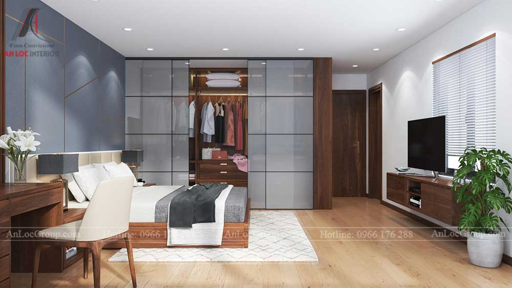 Thiết kế nội thất nhà phố tại Hải Phòng - Phòng ngủ 2