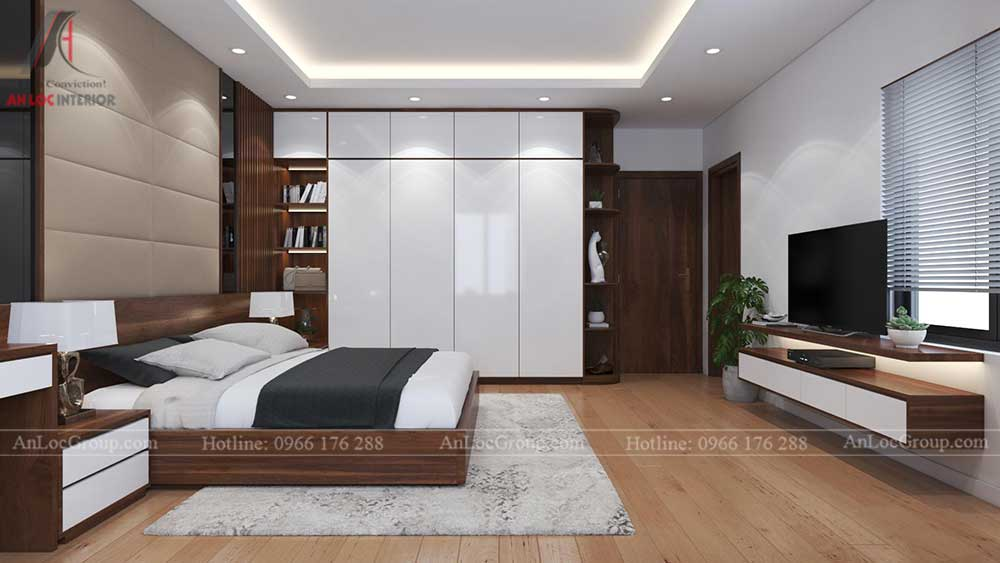 Thiết kế nội thất nhà phố tại Hải Phòng - Phòng ngủ 8