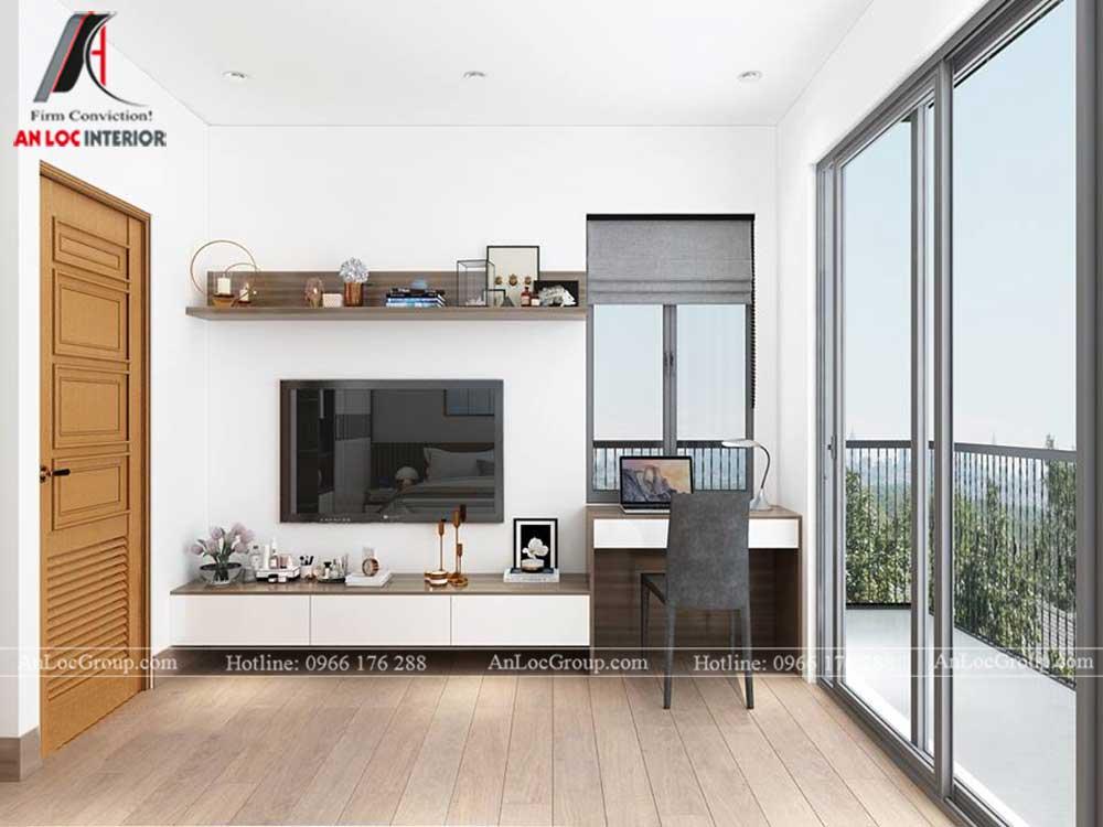 Anlocgroup - Thiết kế nội thất nhà phố tại Gia Lâm, Hà Nội - Phòng ngủ khách 2