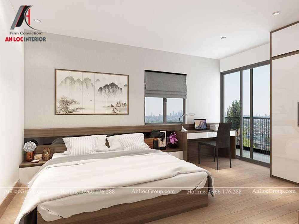 Anlocgroup - Thiết kế nội thất nhà phố tại Gia Lâm, Hà Nội - Phòng ngủ master
