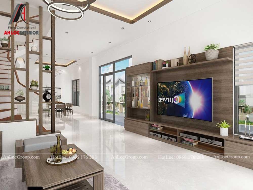 Anlocgroup - Thiết kế nội thất nhà phố tại Gia Lâm, Hà Nội - Phòng khách 3