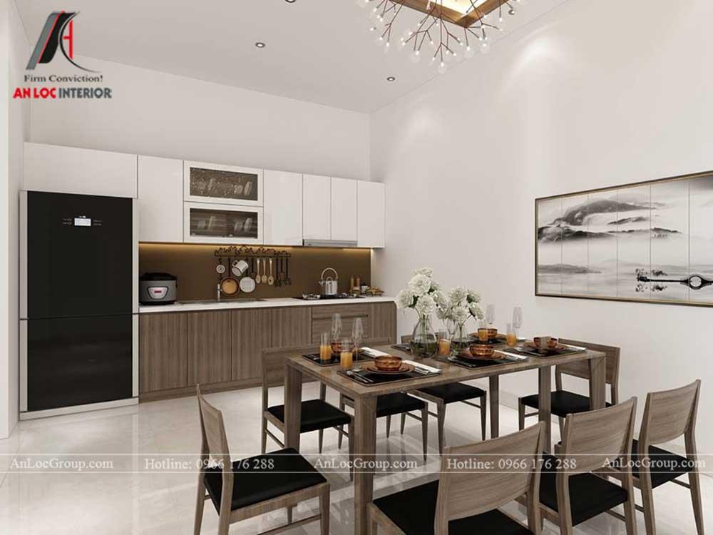 Anlocgroup - Thiết kế nội thất nhà phố tại Gia Lâm, Hà Nội - Phòng bếp