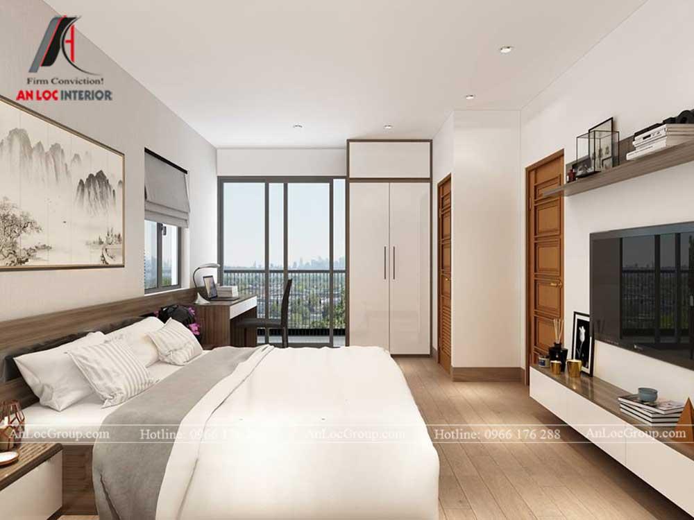 Anlocgroup - Thiết kế nội thất nhà phố tại Gia Lâm, Hà Nội - Phòng ngủ master 1