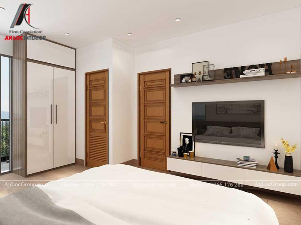 Anlocgroup - Thiết kế nội thất nhà phố tại Gia Lâm, Hà Nội - Phòng ngủ master 2
