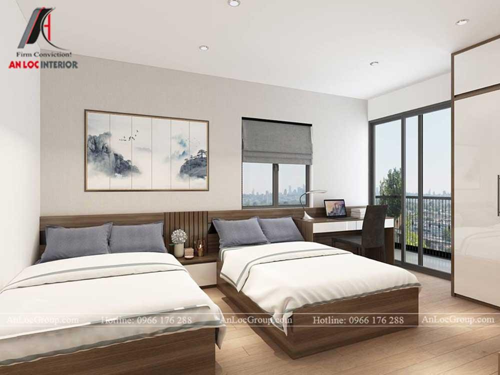 Anlocgroup - Thiết kế nội thất nhà phố tại Gia Lâm, Hà Nội - Phòng ngủ đôi