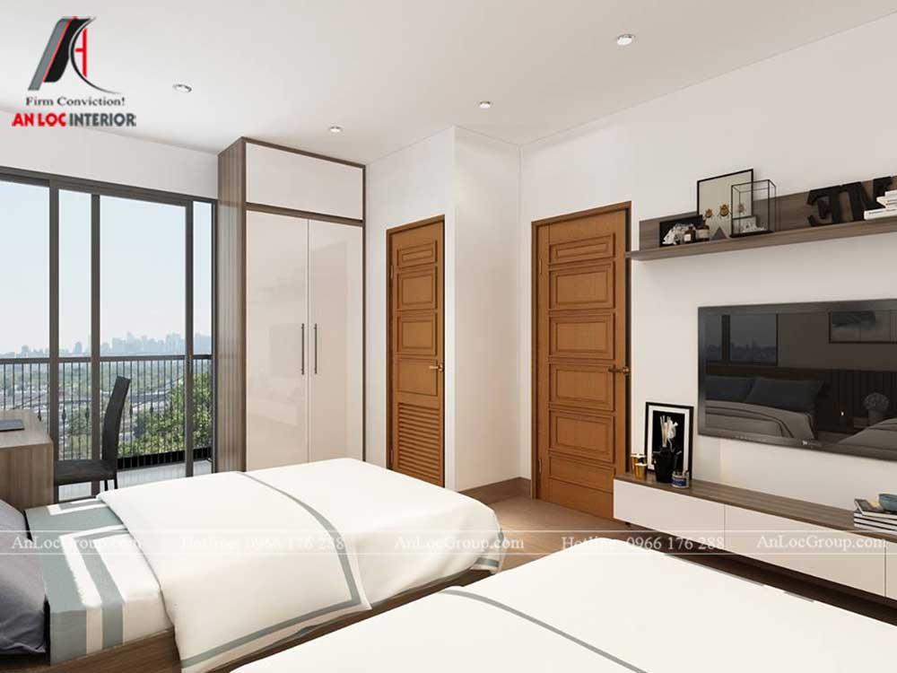 Anlocgroup - Thiết kế nội thất nhà phố tại Gia Lâm, Hà Nội - Phòng ngủ đôi 2