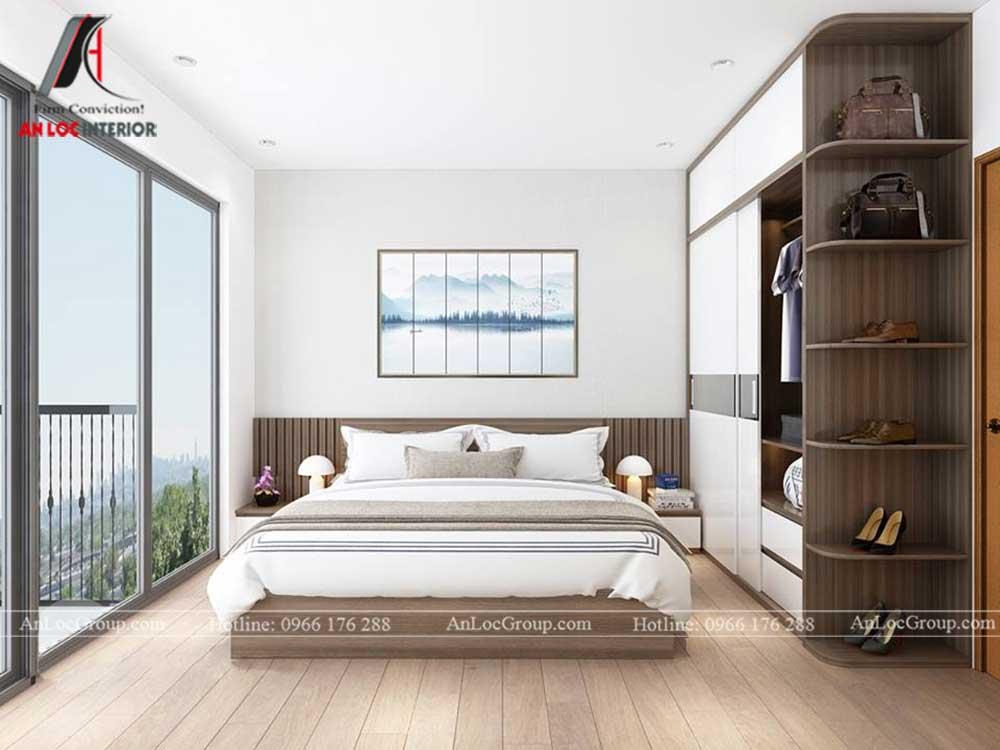 Anlocgroup - Thiết kế nội thất nhà phố tại Gia Lâm, Hà Nội - Phòng ngủ khách