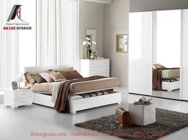 Cách trang trí phòng ngủ hẹp với màu sơn trắng