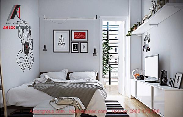 Cách trang trí phòng ngủ hẹp