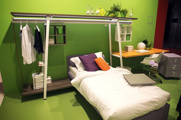 Cách trang trí phòng ngủ hẹp - Ảnh 7