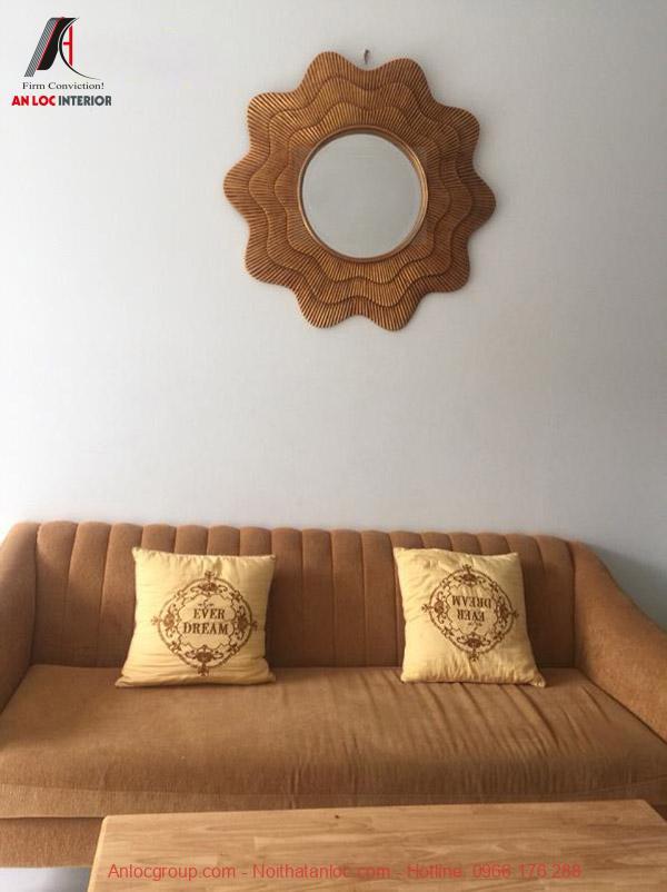 Gương trang trí phòng khách Hetisa