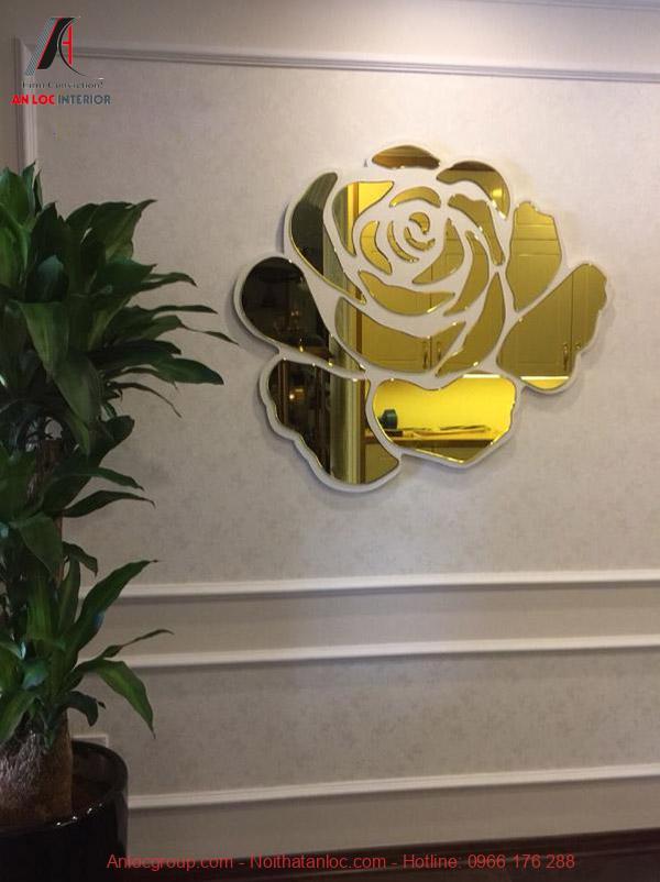 Gương trang trí phòng khách Rose