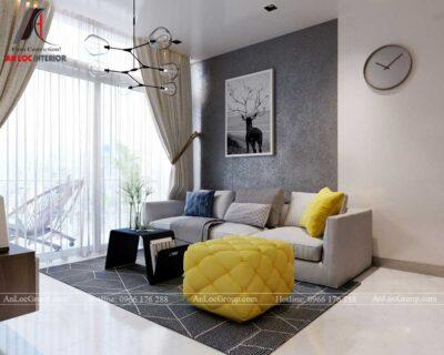 Nội thất chung cư 80m2 tại Vinhomes Giảng Võ - phòng khách
