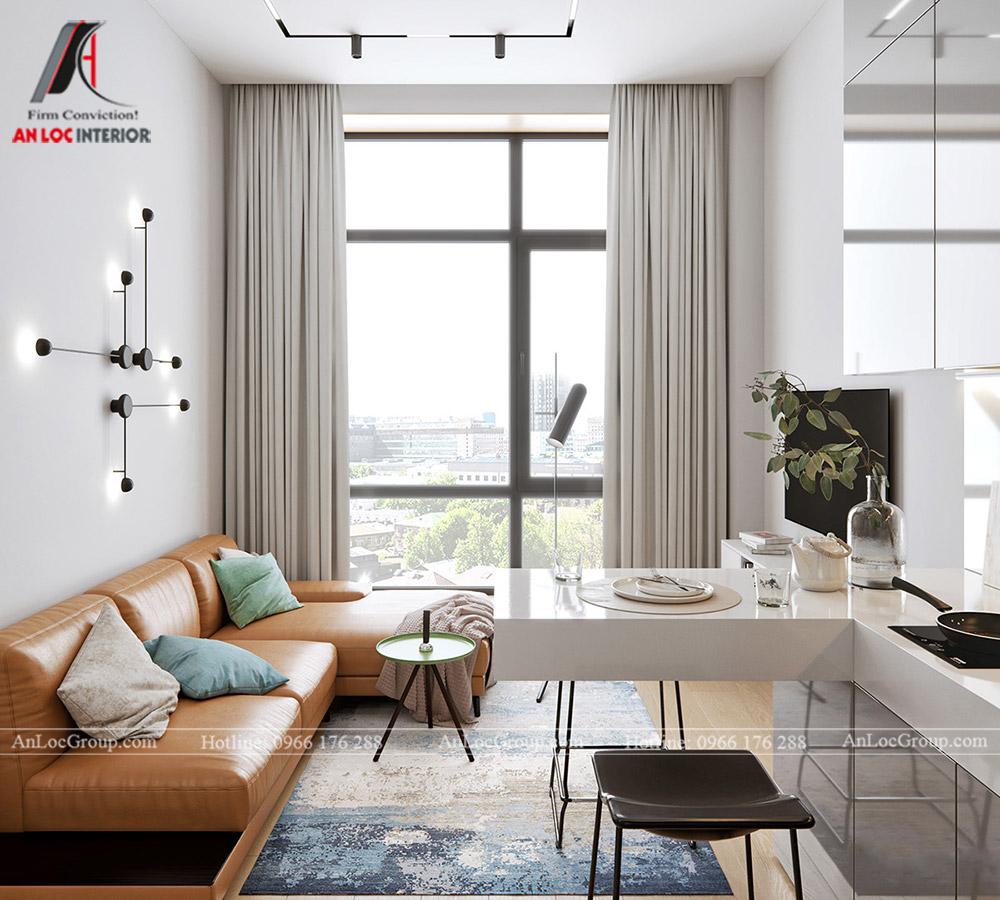 Thiết kế nội thất chung cư mini 1