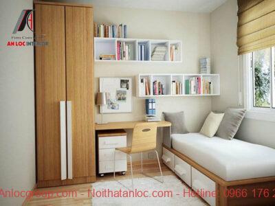 Trang trí phòng ngủ nhỏ với nội thất thông minh