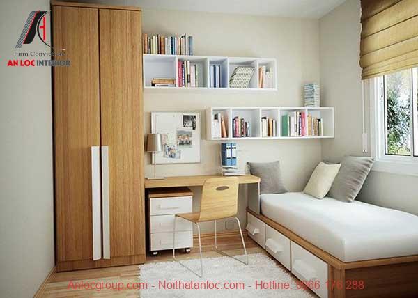 Sử dụng đồ nội thất đa năng trong thiết kế nội thất phòng ngủ nhỏ 10m2