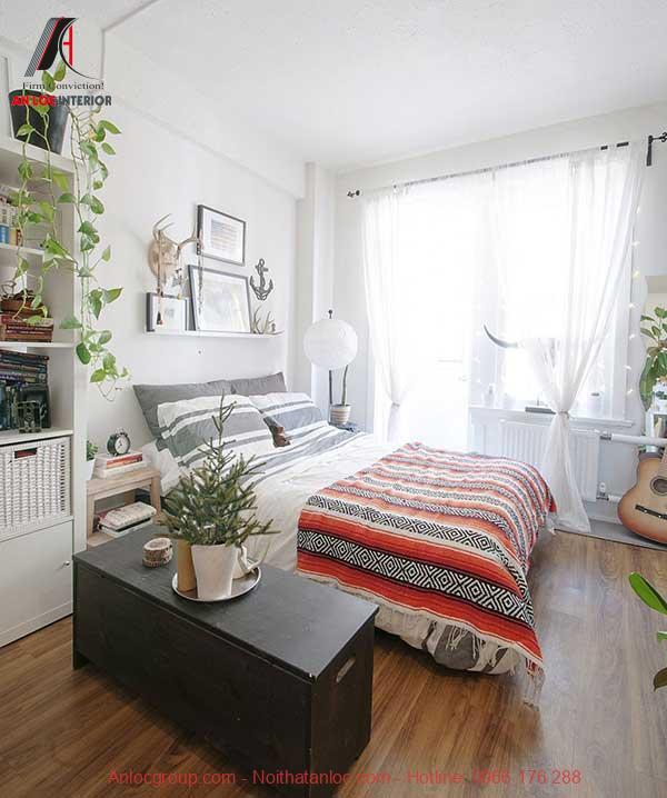 Bổ sung ánh sáng cho thiết kế phòng ngủ nhỏ 10m2