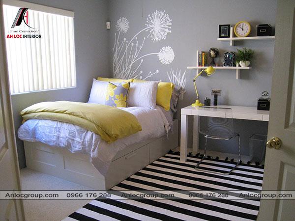 Mẫu 14 - Phòng ngủ nhẹ nhàng cho bạn nữ