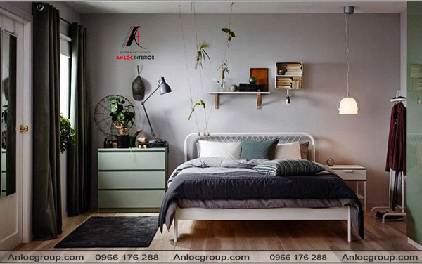 Mẫu 9 - Phòng ngủ nhỏ phù hợp với thanh thiếu niên