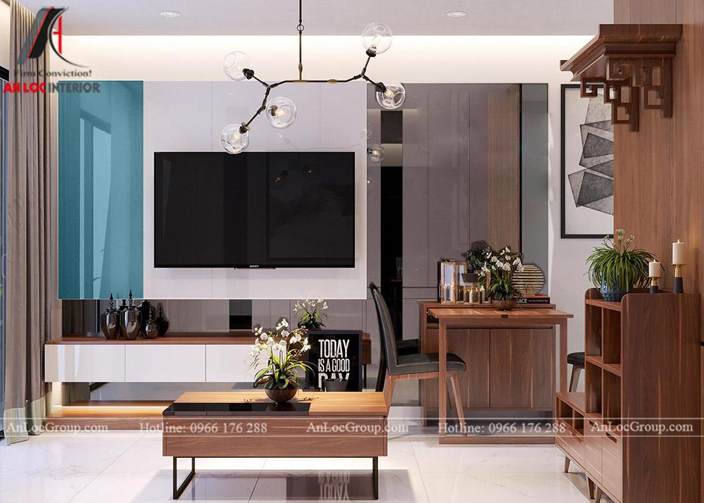 Mẫu thiết kế căn hộ 50m2 tại Vinhomes Park - Ảnh 1