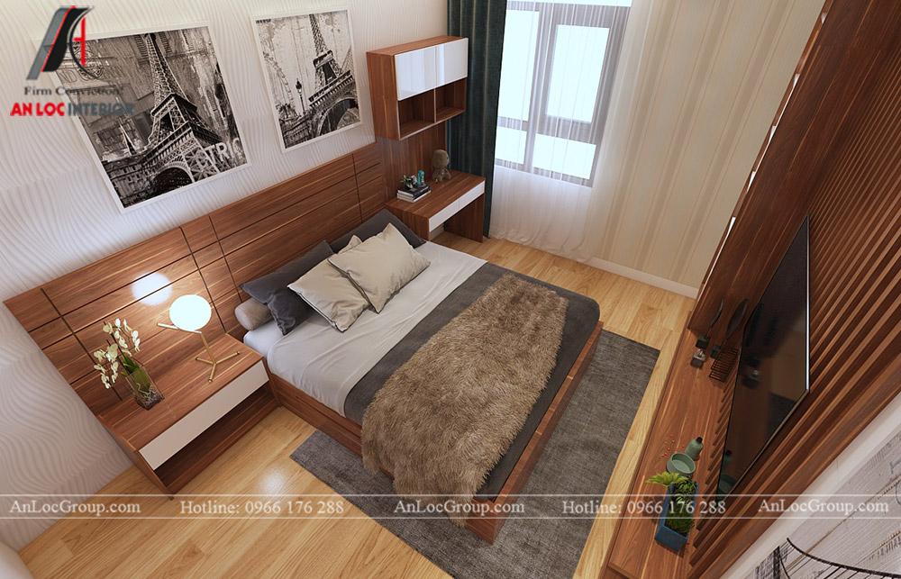 Mẫu thiết kế căn hộ 50m2 tại Vinhomes Park - Ảnh 4