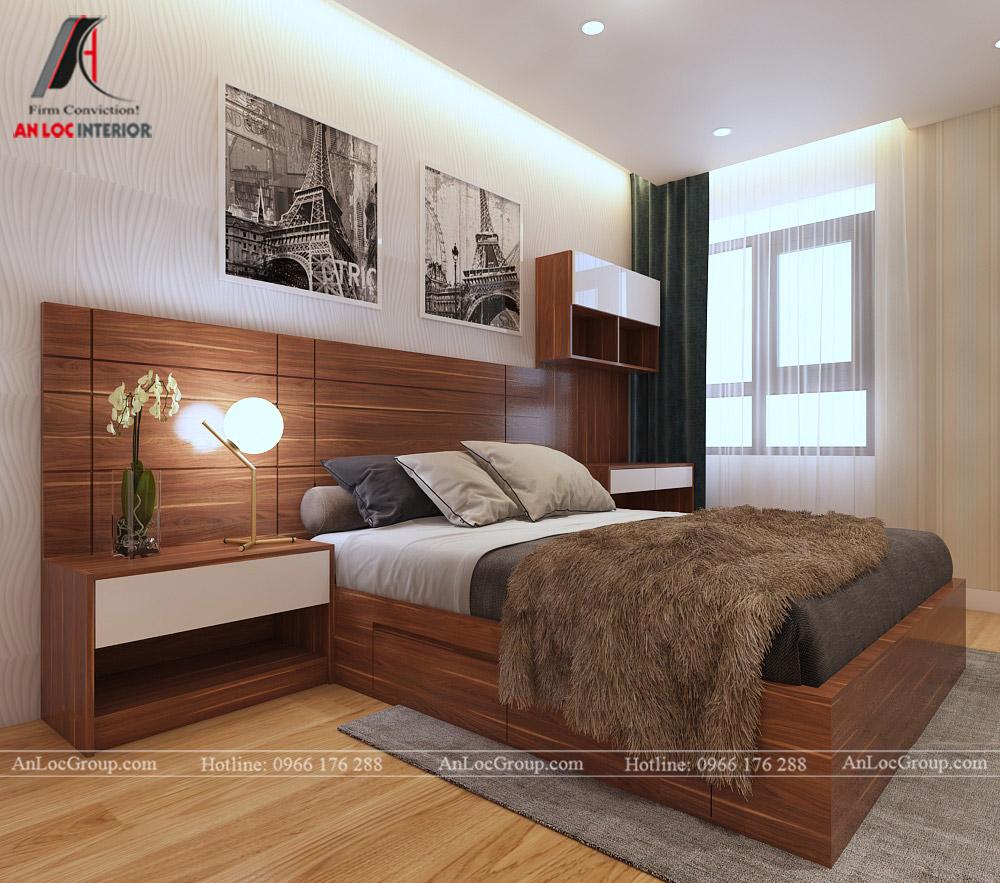 Mẫu thiết kế căn hộ 50m2 tại Vinhomes Park - Ảnh 5