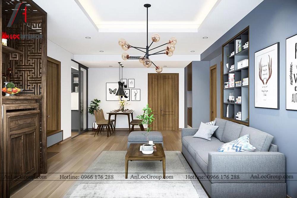 Thiết kế nội thất chung cư 70m2 tại Eco Lake View - Ảnh 1