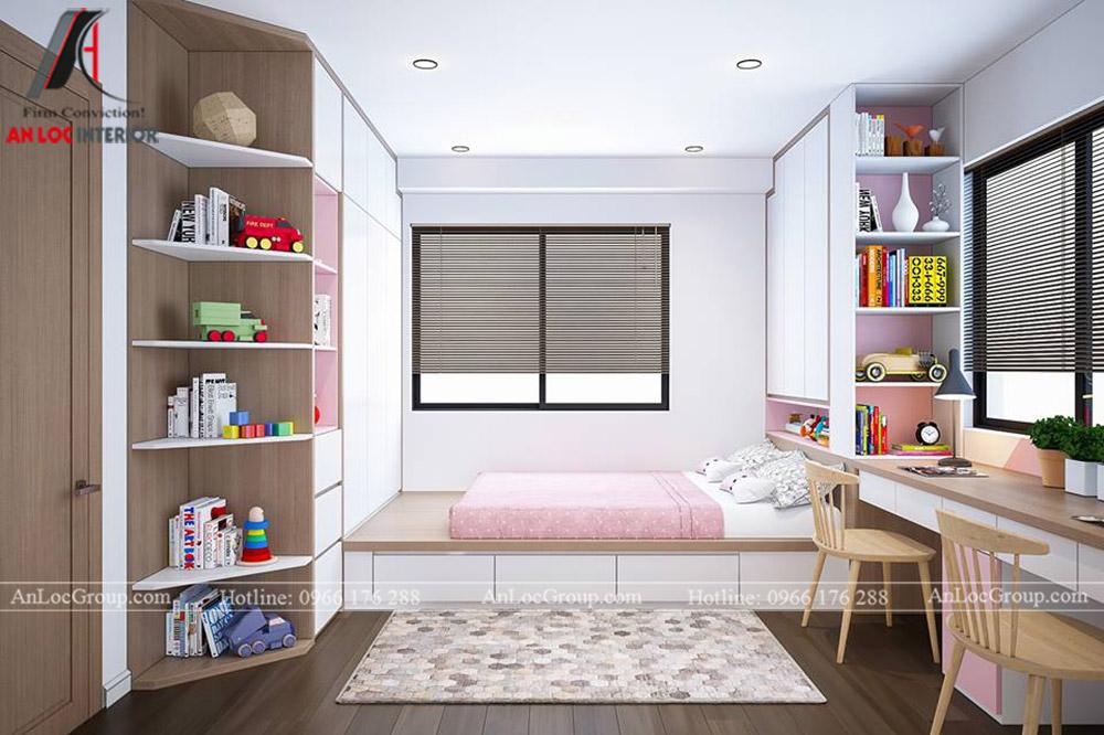 Thiết kế nội thất chung cư 70m2 tại Eco Lake View - Ảnh 11