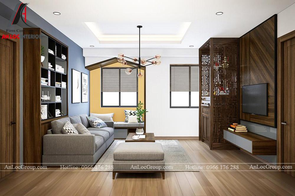Thiết kế nội thất chung cư 70m2 tại Eco Lake View - Ảnh 2