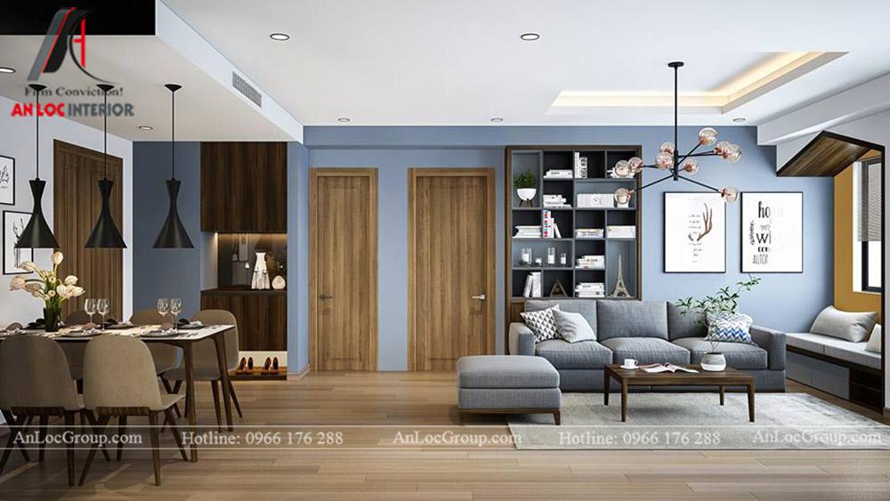 Thiết kế nội thất chung cư 70m2 tại Eco Lake View - Ảnh 3