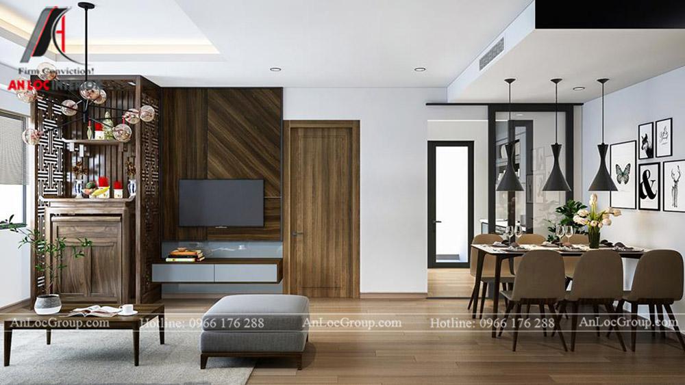 Thiết kế nội thất chung cư 70m2 tại Eco Lake View - Ảnh 4