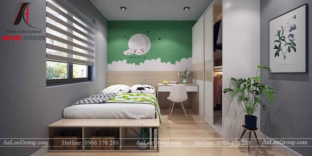 Nội thất chung cư 68m2 tại The Grand Manhattan - Phòng ngủ trẻ em