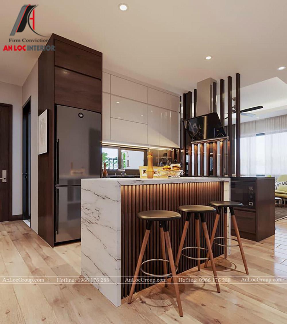 Nội Thất An Lộc - Thiết kế chung cư Hoàng Thành Tower 77m2 - Phòng bếp 1