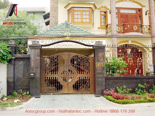 kích thước cổng nhà theo phong thủy phải hài hòa
