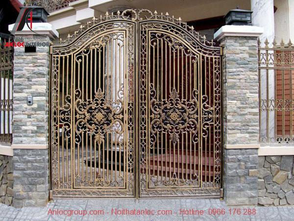 cổng nhà đẹp theo phong thủy