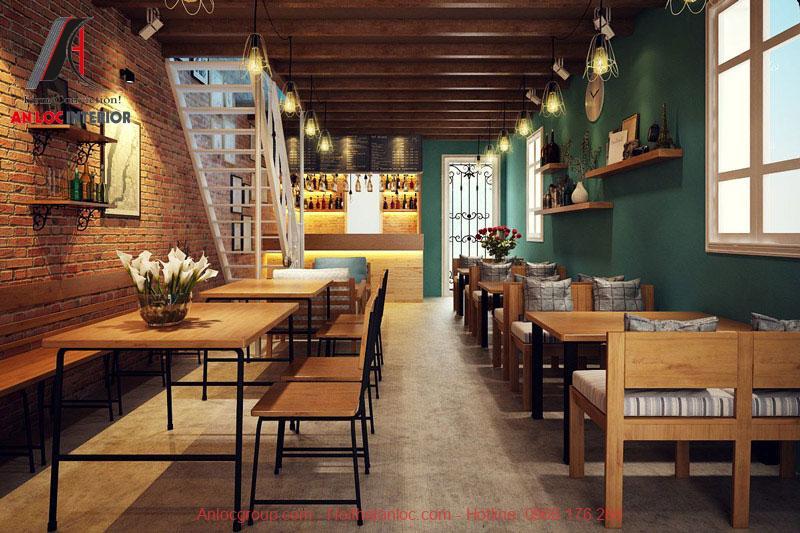 Mẫu thiết kế cafe phong cách Vintage 1