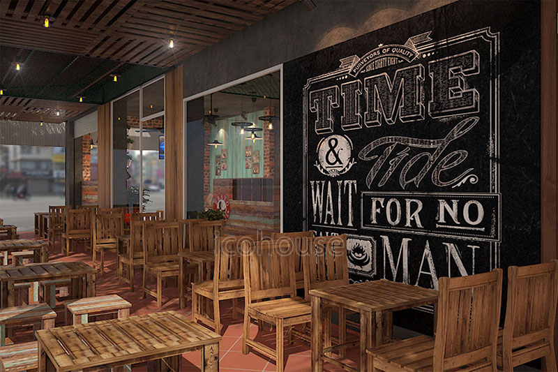 thiet ke quan cafe phong cach vintage