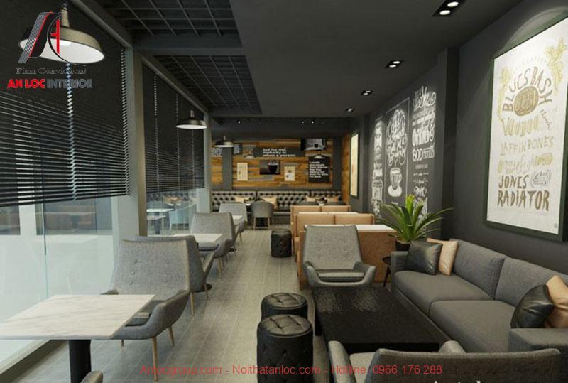 Mẫu thiết kế cafe phong cách Vintage 4