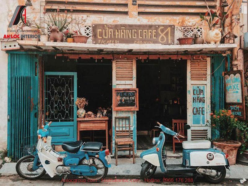 Thiết kế cafe phong cách Vintage