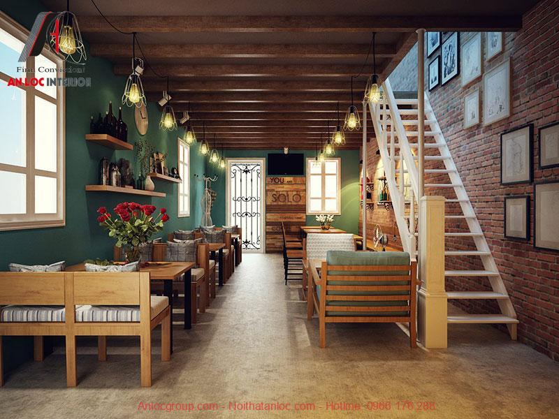 Mẫu thiết kế cafe phong cách Vintage 5