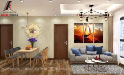 Thiết kế nội thất chung cư 70m2 tại Seasons Avenue - Ảnh 1