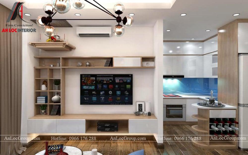 Thiết kế nội thất chung cư 70m2 tại Seasons Avenue - Ảnh 2